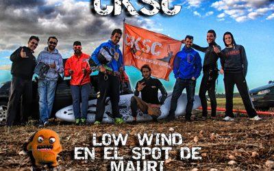 Día de Low wind en el spot de Mauri